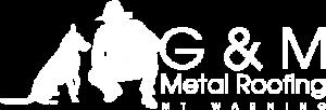 G & M Roofing Logo White