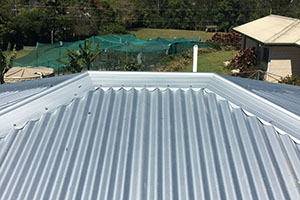 brand new metal roof on home